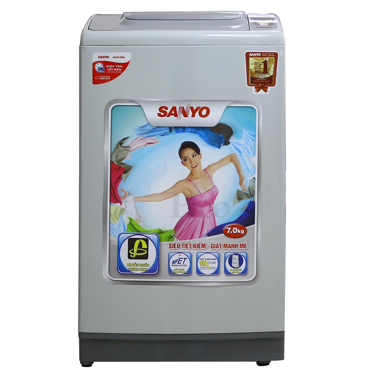 Máy giặt Sanyo 7kg cũ chính hãng giá rẻ tại hải dương